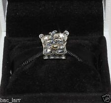 "AUTHENTIC PANDORA CHARM""Bear Hug Charm 791395""791395, #665"