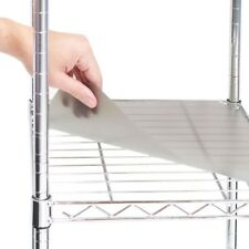 "2 Individual Smoke Gray Fitted Shelf Liners, Designed to Fit 18"" x 36"" Wire Shel"