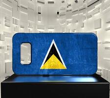 Coque rigide mat pour Galaxy S10 Drapeau SAINTE LUCIE 01