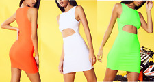 New Ladies Womens CUT OUT BODYCON Dress Size 8,10,12,14,16