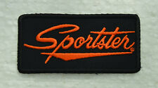 patch, écusson,   sportster 9/4cm, noir et orange