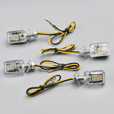 4x6 LED Amber Mini Motorcycle Turn Signal Blinker Indicator Light Universal J25