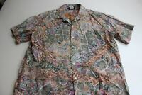 VTG Hilo Hattie Made Hawaii Reverse Print CAMP SHIRT Marked XL FITS Large l
