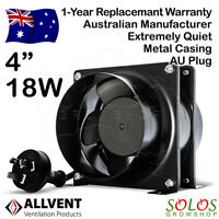 """4""""/6""""/8"""" HYDROPONIC INLINE EXHAUST FAN VENTILATION SILENT EXTRACTOR ALLVENT A40"""