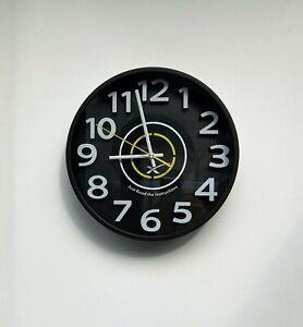 Horloge Murale Silencieuse, Numéro 3D Logo Space X Noir, Taille: 30 cm/12 Pouce