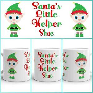 Personalized Elf Christmas Mug Cup - Christmas Present Gift, Christmas eve