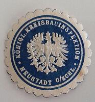 Neustadt Königliche Kreisbauinspektion Siegelmarke Vignette (7302)