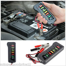 12V Car Motorcycle Digital Battery Alternator Tester 6 LED Display Vehicle ATV