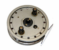 """fine J W Young Rapidex 4"""" alloy centrepin classic trotting reel with good finish"""