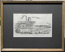 Francis Wilson Niven (1831–1905) Original Lithograph Creswick Mining Shaft