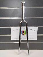 "NOS Vintage Chrome 1"" Steel Forks 165mm Length English Thread 700c NOS"