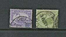 WESTERN AUSTRALIA 1906 TWO STAMPS SG 115,116, -  6d, & 1/- FINE USED