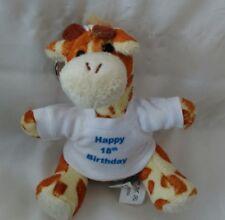 Personalised 18th Birthday Giraffe keyring