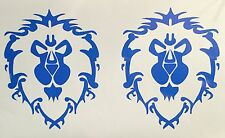 2x World of Warcraft Alliance Vinyl decal Sticker Horde Video Game WoW xbox,