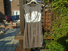 BODEN PEWTER TAUPE +SILK BLEND VELVET +SEQUIN DRESS SIZE 8 LONG BNWOT WH931