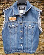 sleeveless denim jacket vest gilet polo jeans co. ralph lauren large 12/14