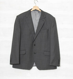 M&S Marks & Spencer Men's 46S W40 L29 Luxury Pure New Wool Grey Suit