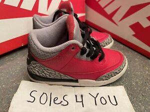Nike Air Jordan 3 Retro Red White Cement Grey CQ0489-600 Size11c