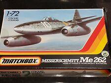 Classic Matchbox Messerschmitt ME262 1/72nd scale 2 colour model kit. Complete