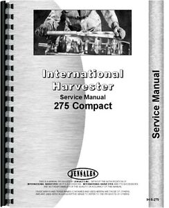 Case-IH 275 Tractor Service Manual (IH-S-275) with Mitsubishi 3 cylinder engine