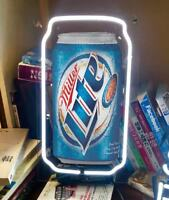 "MILLER LITE CAN BEER BAR BUDWEISER BUD NHL FORD BOTTLE NEON LIGHT SIGN 13""X7"""