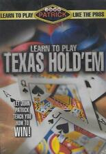 Learn to Play Texas Holdem Like the Pros John Patrick Learn To Win DVD NEW