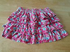 HOLLISTER LADIES TIERED COTTON KNIT MINI-SKIRT-S-BARELY WORN-FLORAL-COMFY/COOL
