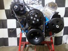 Sbc Complete Front Pulley Drive Kit Billet Black Brackets Withp Alt Ps Pump