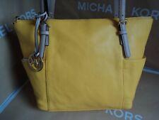 612096bbca28 NWT MICHAEL KORS JET SET ITEM Citrus Leather Large TOTE SHOULDER HANDBAG  MSR $