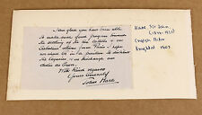 c1900 | John Hare | ORIGINAL signature on clipped letter | reference to Sabatini