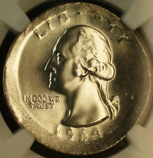 1964 Mint Error BROADSTRUCK ON BLANK Silver Washington Quarter NGC Gem BU UNC