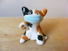 Little Guys Hero Cat With Mask Miniature Animal Figurine Cindy Pacileo Pottery