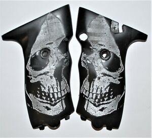 Hi Point JCP-40, JHP - 45 pistol grips engraved grim skull on black plastic