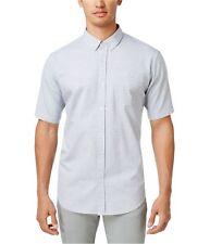 Ezekiel Mens Dotted Button Up Shirt grey 2XL