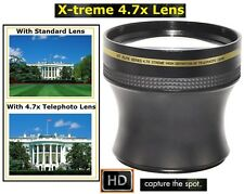 4.7x Xtreme Hi-Def Telephoto Lens for Panasonic Lumix DMC-FZ70