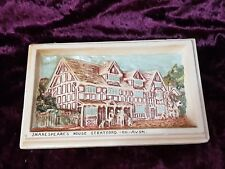 Vintage Ivorex 3D Plaque- Shakespeare's House- Stratford On Avon