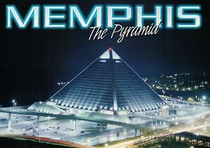 The Pyramid, Memphis Tennessee, Downtown, Was Sports Arena / Stadium -- Postcard