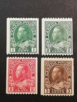 Canadian Stamps -- Canada 1915-1924 King George Perf 12 131-134 (SCOTT 290 USD)