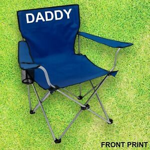 Personalised camping chair Fathers day gift  Dad Mother's Day GFestival, Camping