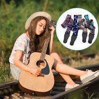 Nylon Guitar Strap For Acoustic Electric Bass Adjustable Soft Webbing Belt 5cm