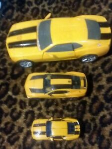 Lot of 3 Transformers Bumblebee Car Action Figures
