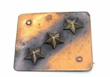 Vtg SIGNED Modernist PEDRO PUJOL Copper & Brass STAR STUDDED Pin Brooch