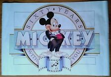 """Mickey Mouse """"Sixty Years With You"""" poster 23.5x35 inches 60x88.5cm Walt Disney"""