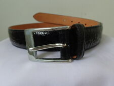 TRAFALGAR Designer Genuine Leather BELT Black Italian Calfskin Leather