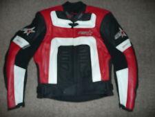 LADIES RST SRT 6-7 UK14 EU40 LEATHER MOTORCYCLE JACKET BLACK RED WHITE WOMENS