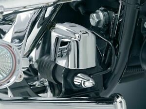 Kuryakyn Chrome Deluxe Rear Brake Master Cylinder Cover Harley Touring Softail