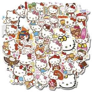 25 Large Random Hello Kitty Kawaii Waterproof Stickers For Laptop Cell Phone