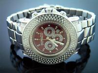 New Don & Co 5.50CT 3 rows large size Diamond 50MM Stainless steel Watch