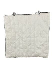 Pottery Barn White Pintuck Quilted 26x26 Cotton Euro Pillow Sham