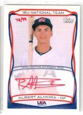 2010 Topps USA Box Set ALBERT ALMORA 18U National Team ROOKIE RED AUTO! #/99!
